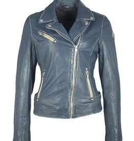 Mauritius Sofia Leather Jacket Denim Blue