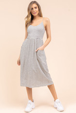 Gilli Striped Midi Dress