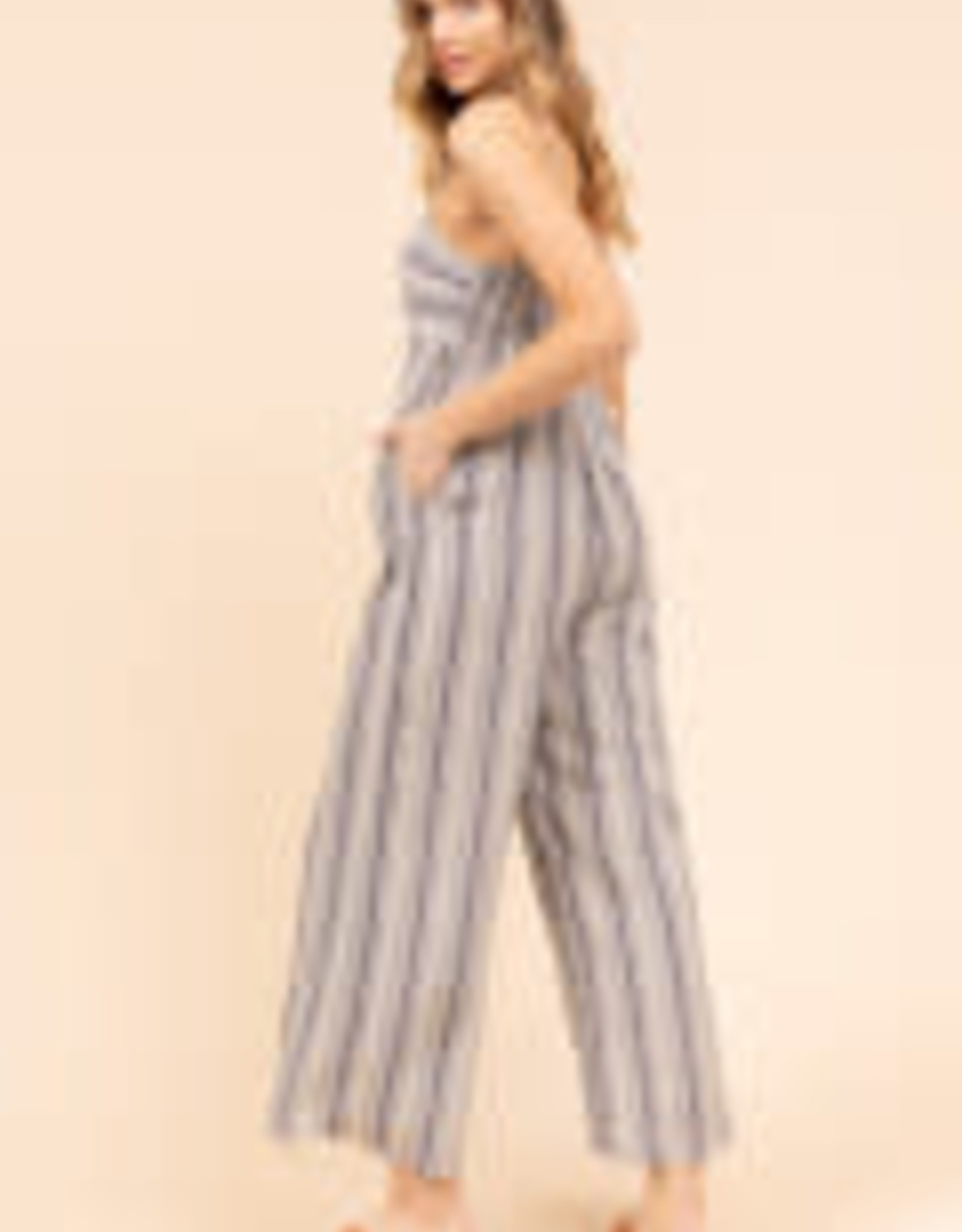 Denim Stripe Jumpsuit