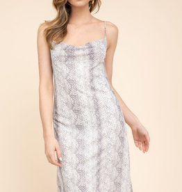 Gilli Snakeskin Midi Dress