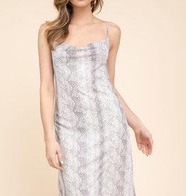 Snakeskin Midi Dress