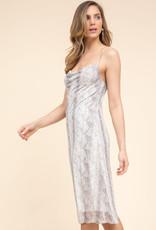 Gilli Snakeskin Midi Dress