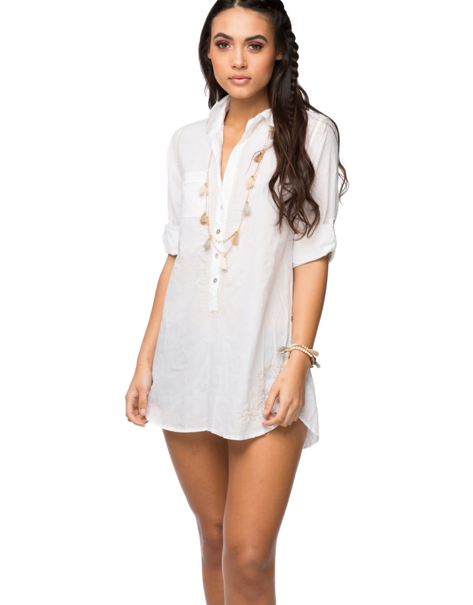 Subtle Luxury Boyfriend Shirt White/Dune