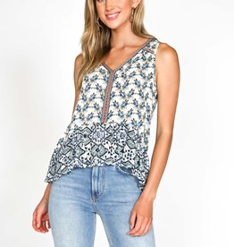 Patrons of Peace Indiana Floral Tank Blue