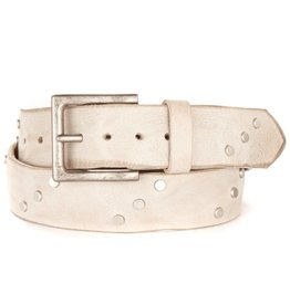 Brave Leather Currier Studded Belt Bone