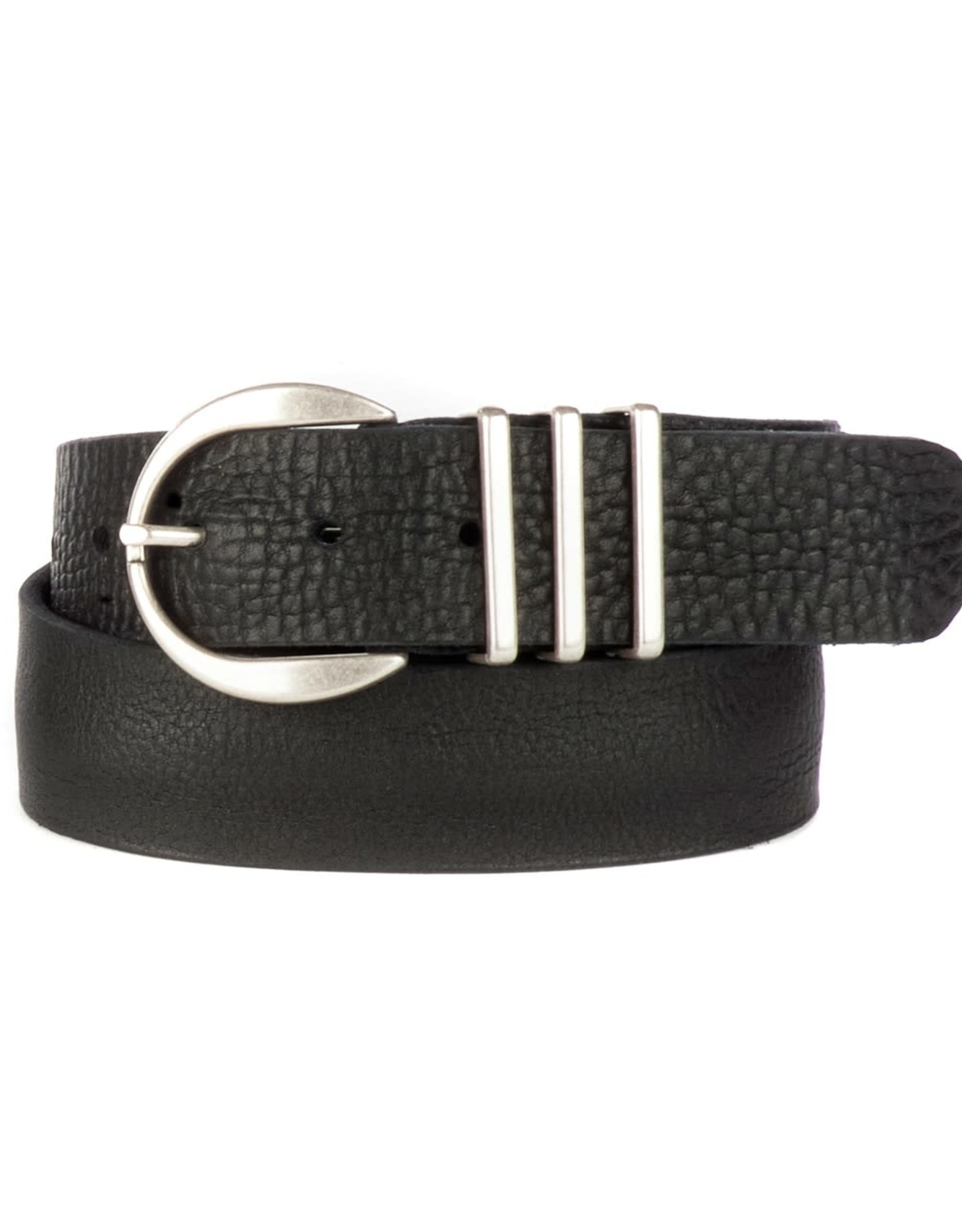 Brave Leather  Kiku Belt Washed Black