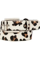 Brave Leather  Leysa Belt White Leopard