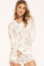 Z Supply Elle Floral Long Sleeve Pullover