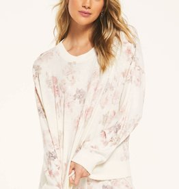 Z Supply Elle Floral Long Sleeve Pullover
