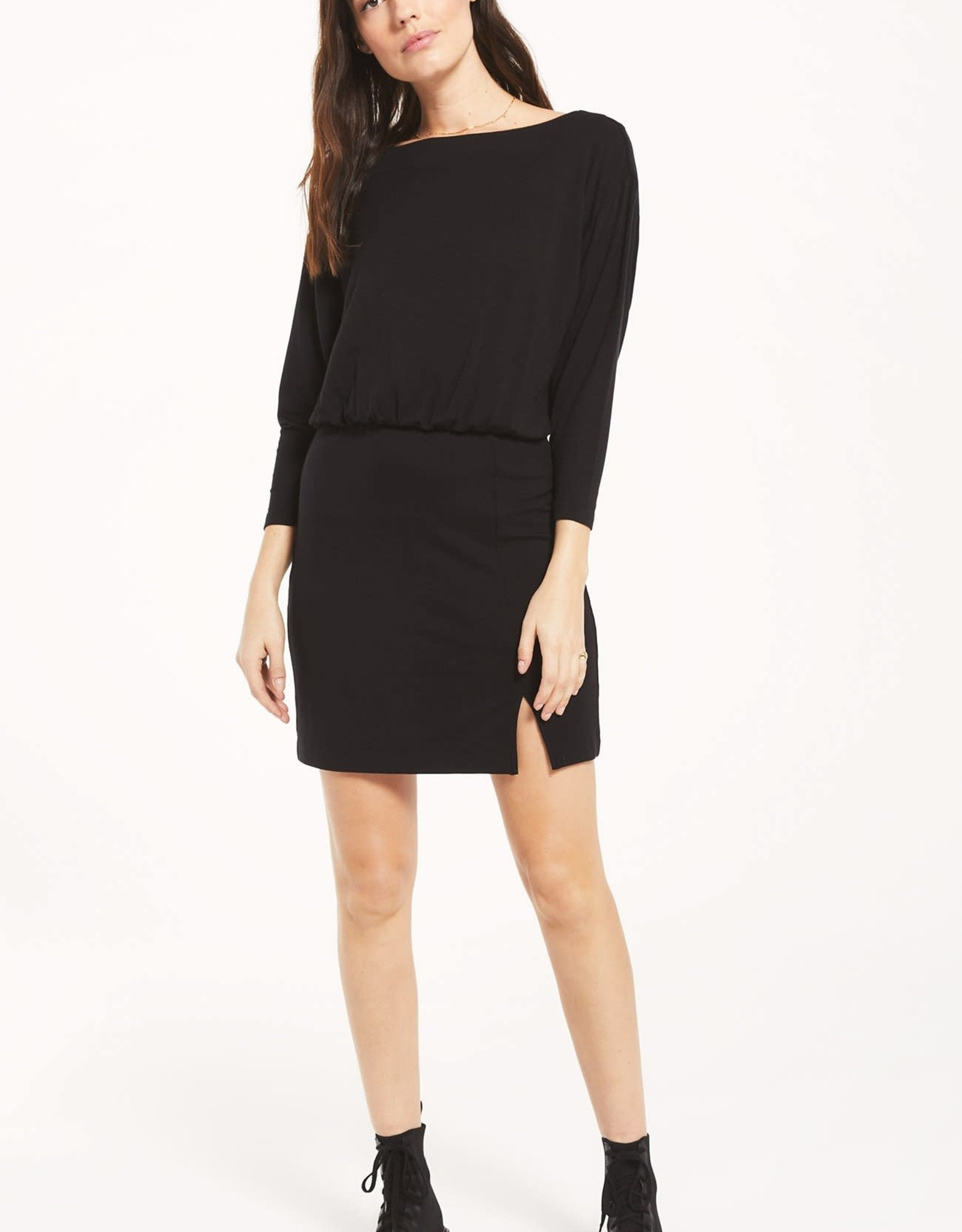 Z Supply Stacia Premium Dress Black