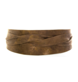 Ada Leather Wrap Belt - Metallic