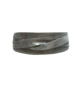 Ada Leather Wrap Belt - Metallic