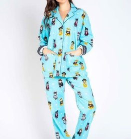 PJ Salvage Flannel PJs Cool Kitties