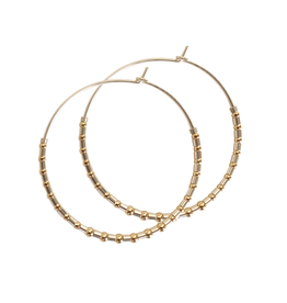PS Silver and Gold  Hoops