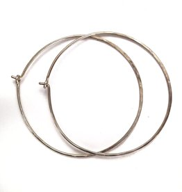 PS Sterling Silver Hoops Large