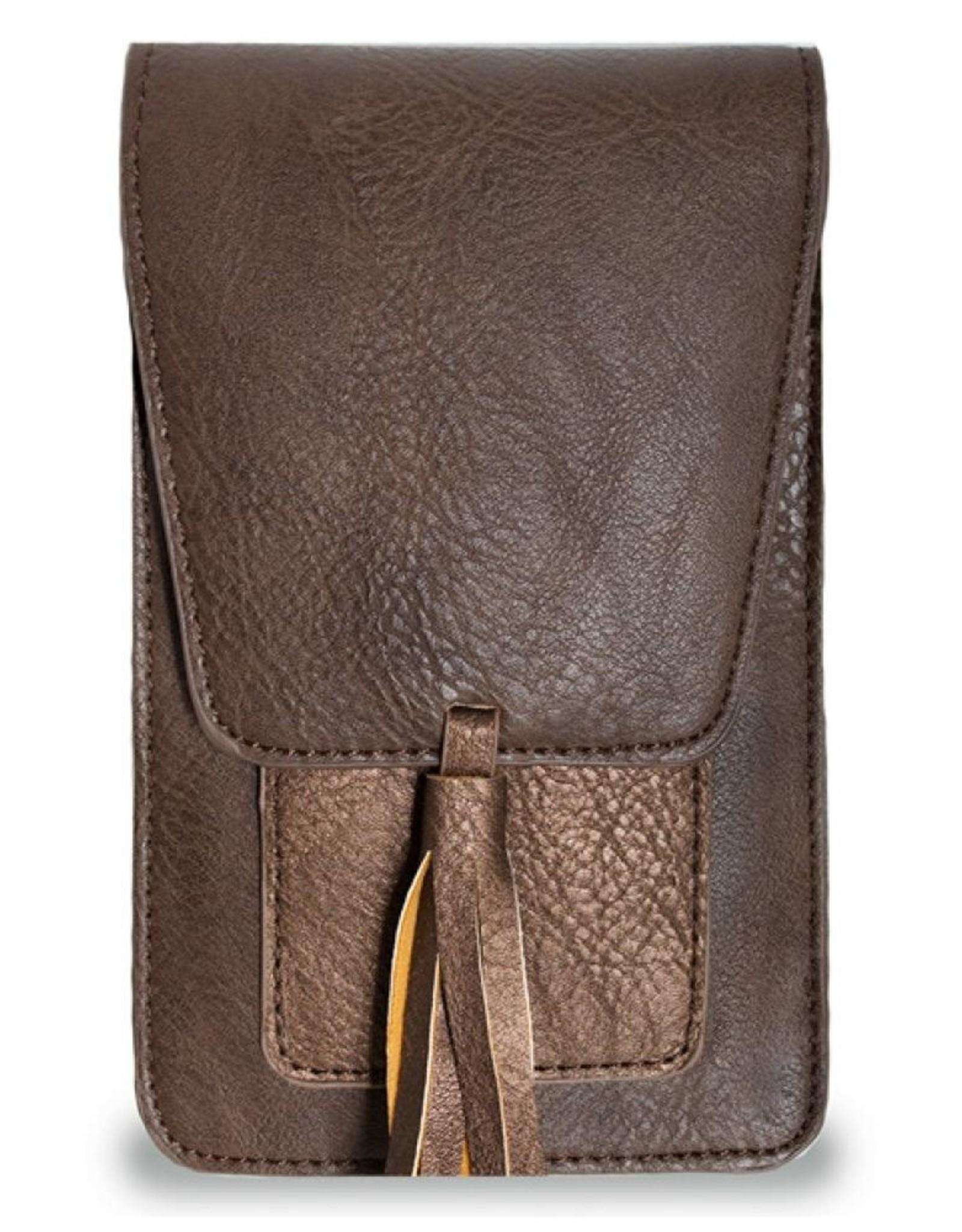 Vegan Crossbody Bag with Tassel
