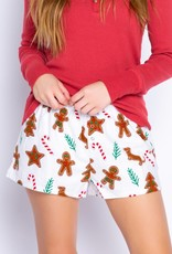 PJ Salvage  Holiday Flannel Shorts - Ivory