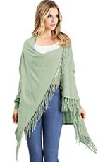 Lovestitch Shawl Fringed Cardigan
