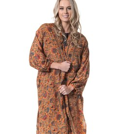 Cienna Amber Silk Kimono One Size
