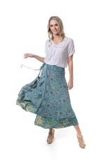 Cienna Silk Wrap Skirt