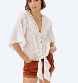 Lovestitch Eyelet Tie Front Top