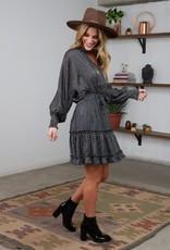 Lovestitch Boho Long Sleeve Polka Dot Dress
