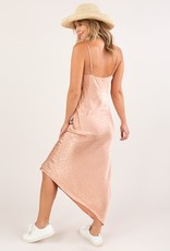 Lovestitch Dot Jacquard Slip Dress