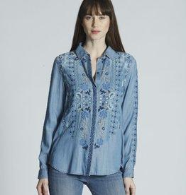 Driftwood Embroidered Lana Denim Shirt
