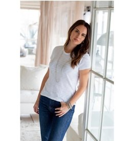 Erin Gray Basic Jeans Crew Tee Shirt