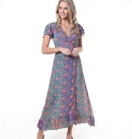 Cienna Violet Wrap Dress