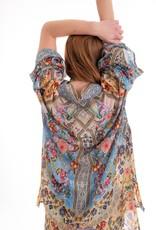 Cienna Silk Kimono Vintage Blue