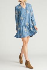 Driftwood  Blue Garden Dress
