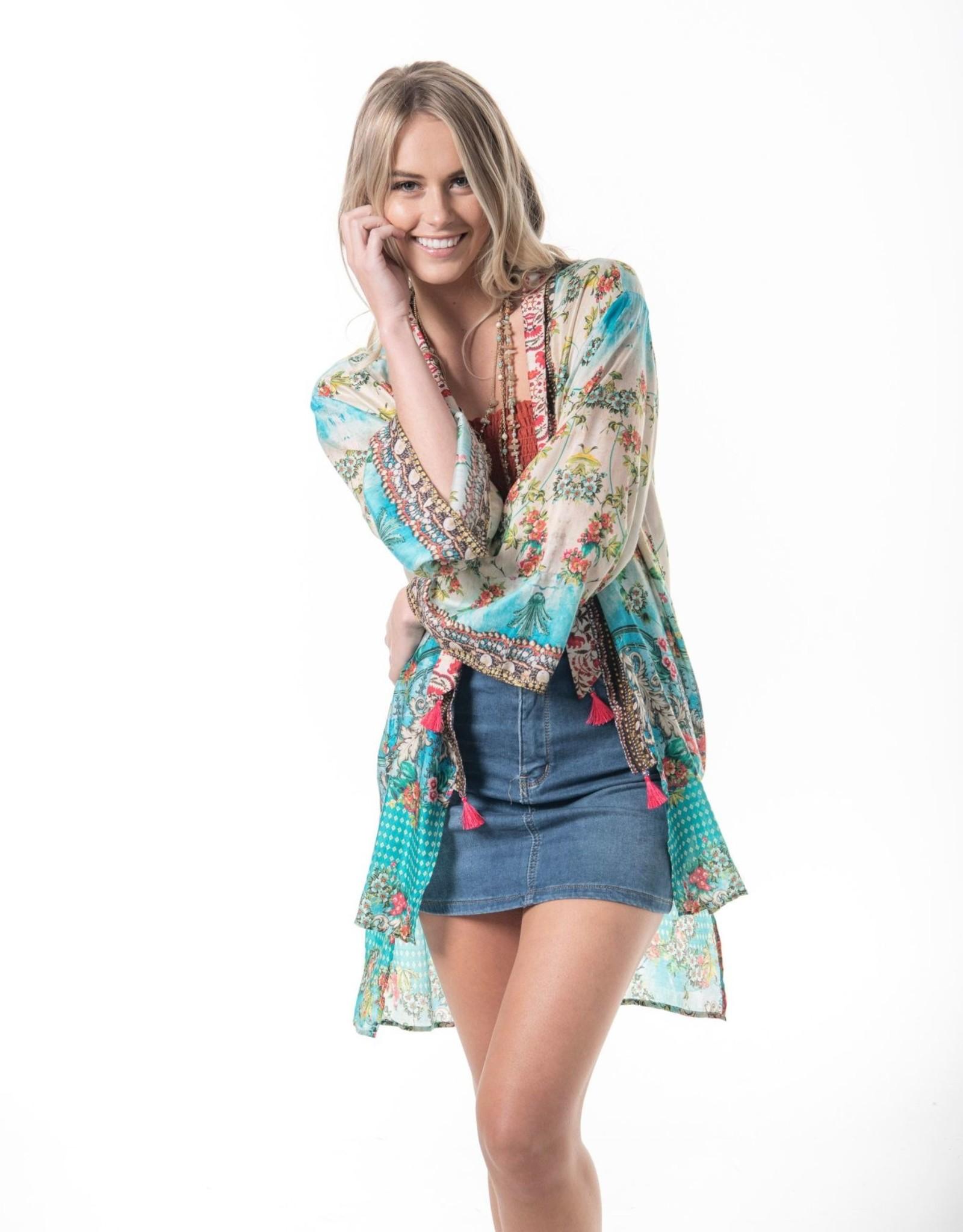 Cienna Atlantis Silk Kimono