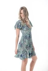 Cienna Blue Star Short Wrap Dress
