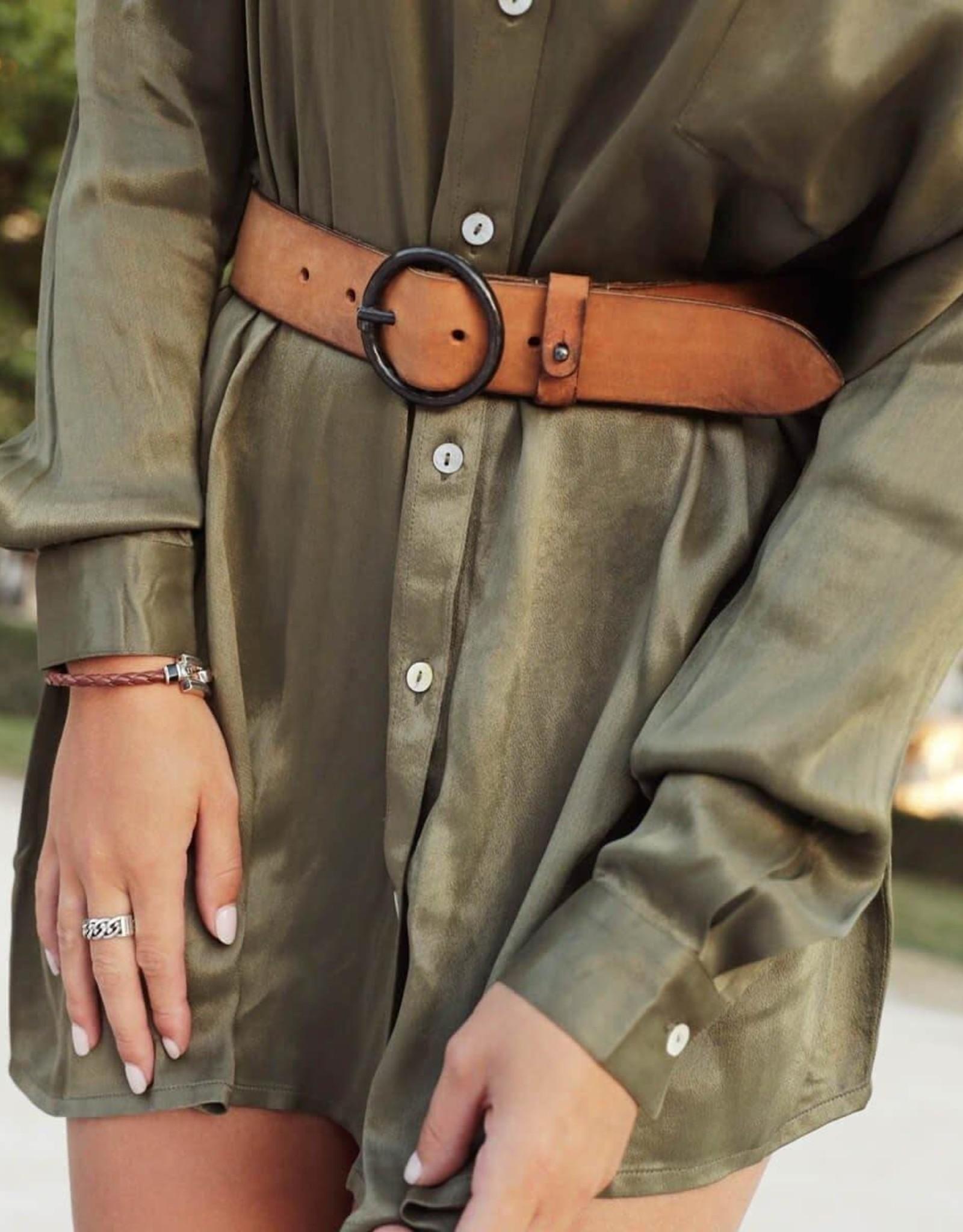 Amsterdam Heritage Pip Vintage Leather Belt