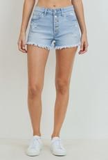 Just Black Hi Rise Button Down Shorts