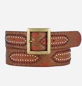 Amsterdam Heritage Daya Studded Leather Belt
