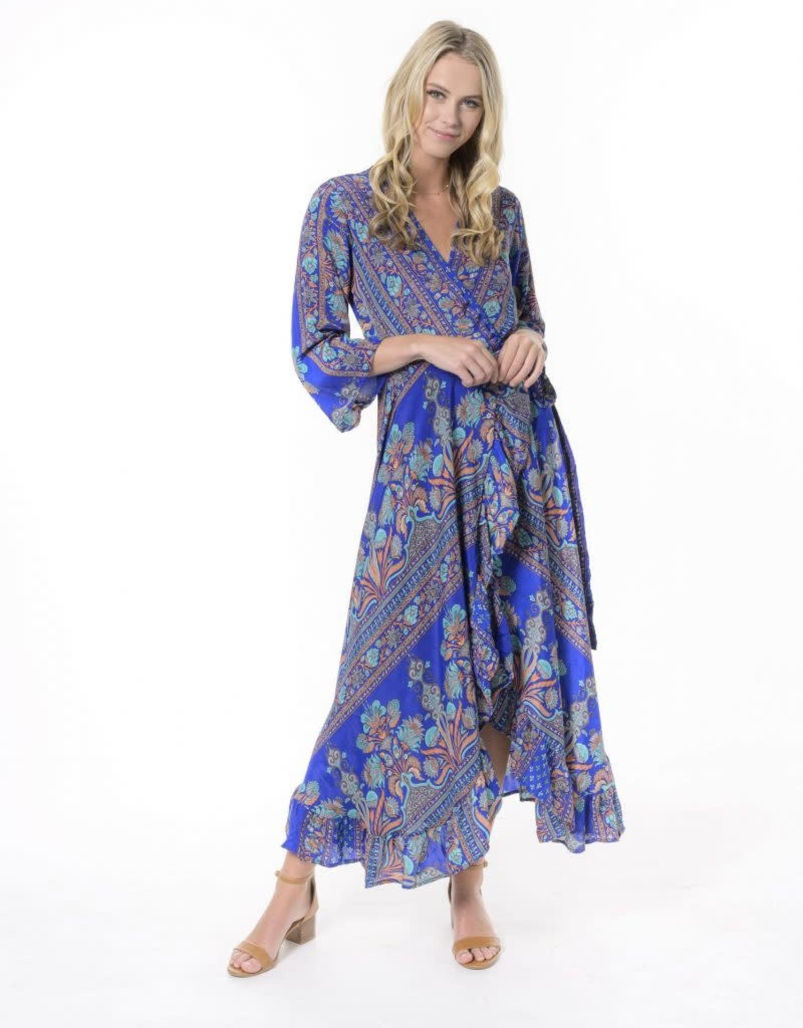 Cienna  Ciara Maxi Wrap Dress Blue