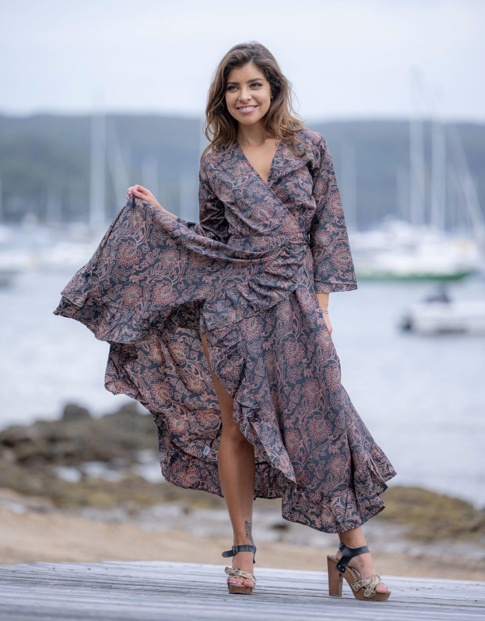 Cienna  Rudy Maxi Wrap Dress