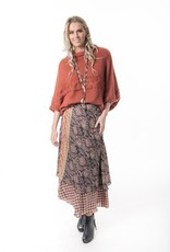 Cienna  Silk Wrap Skirt Rust One Size