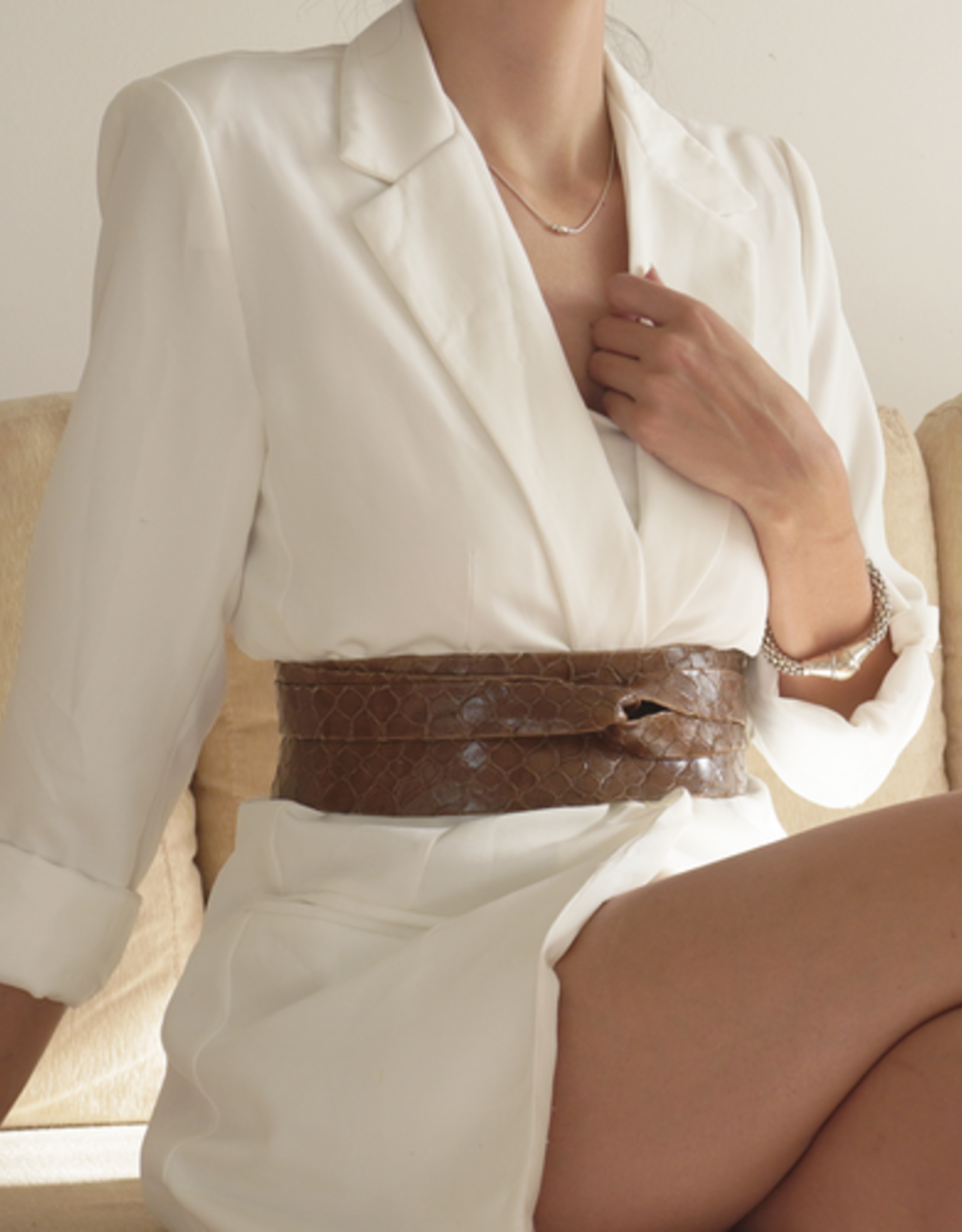 Ada Tortoise Wrap Belt