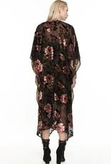 Aratta Flying Ebony Burnout Velvet Kimono