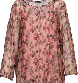 M Made in Italy Silk  Antique Pink Long Sleeve Blouse