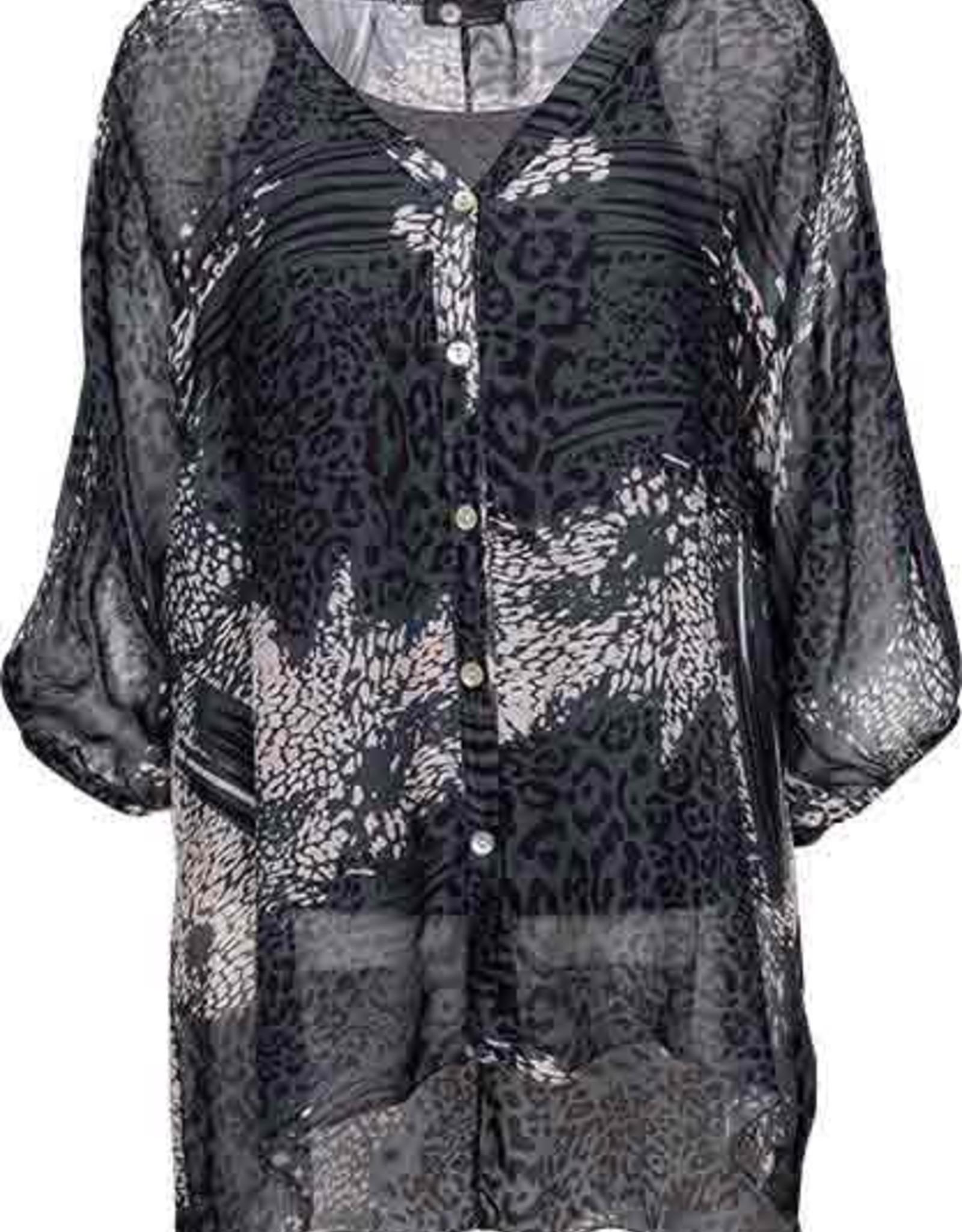 M Made in Italy  Silk Print Tunic