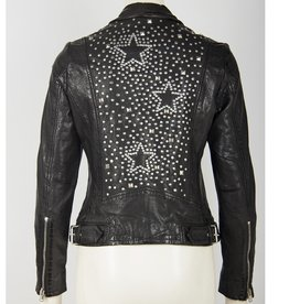Mauritius Kaye Star Stud Leather Jacket