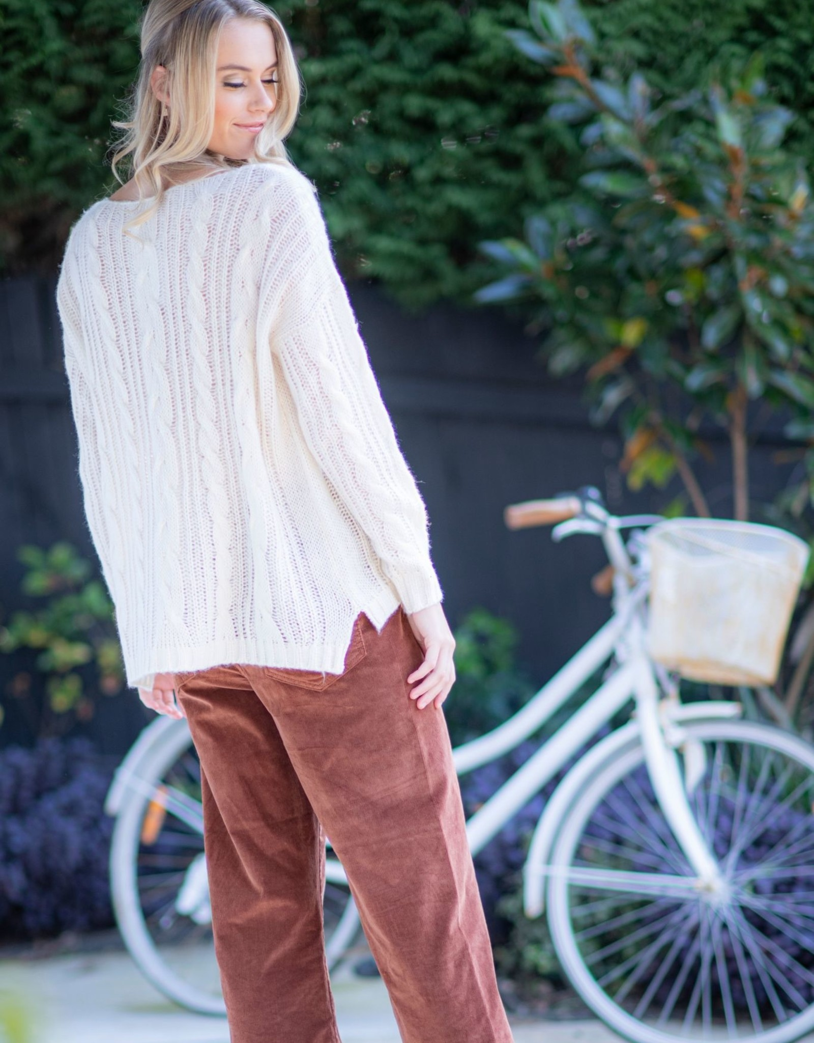Cienna Designs Katie Cable Knit Pullover