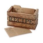 Rustic Crate Recipe box