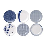Royal Doulton Pacific Accent Plates Set of 6