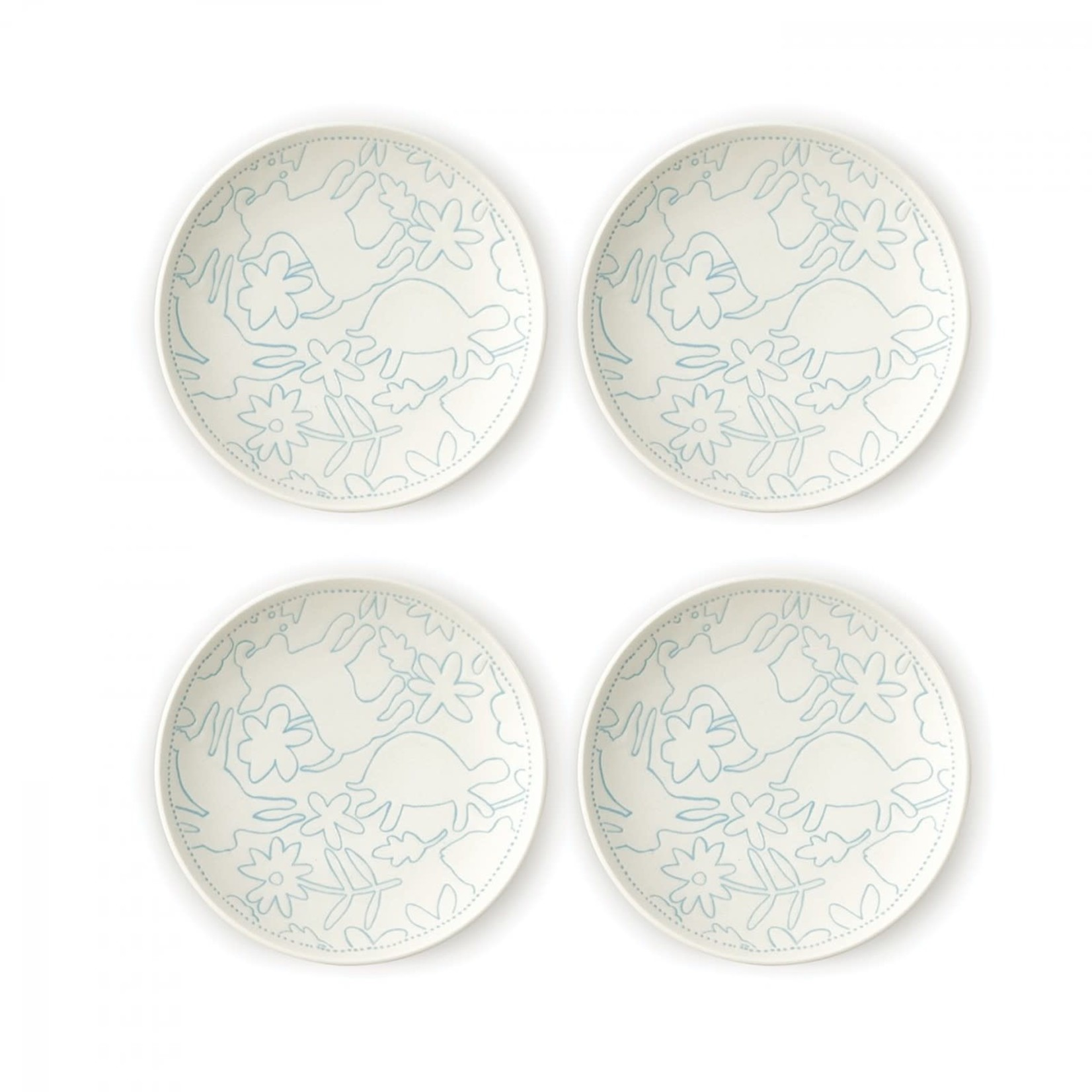 Polar Blue Accents Plates Set of 4