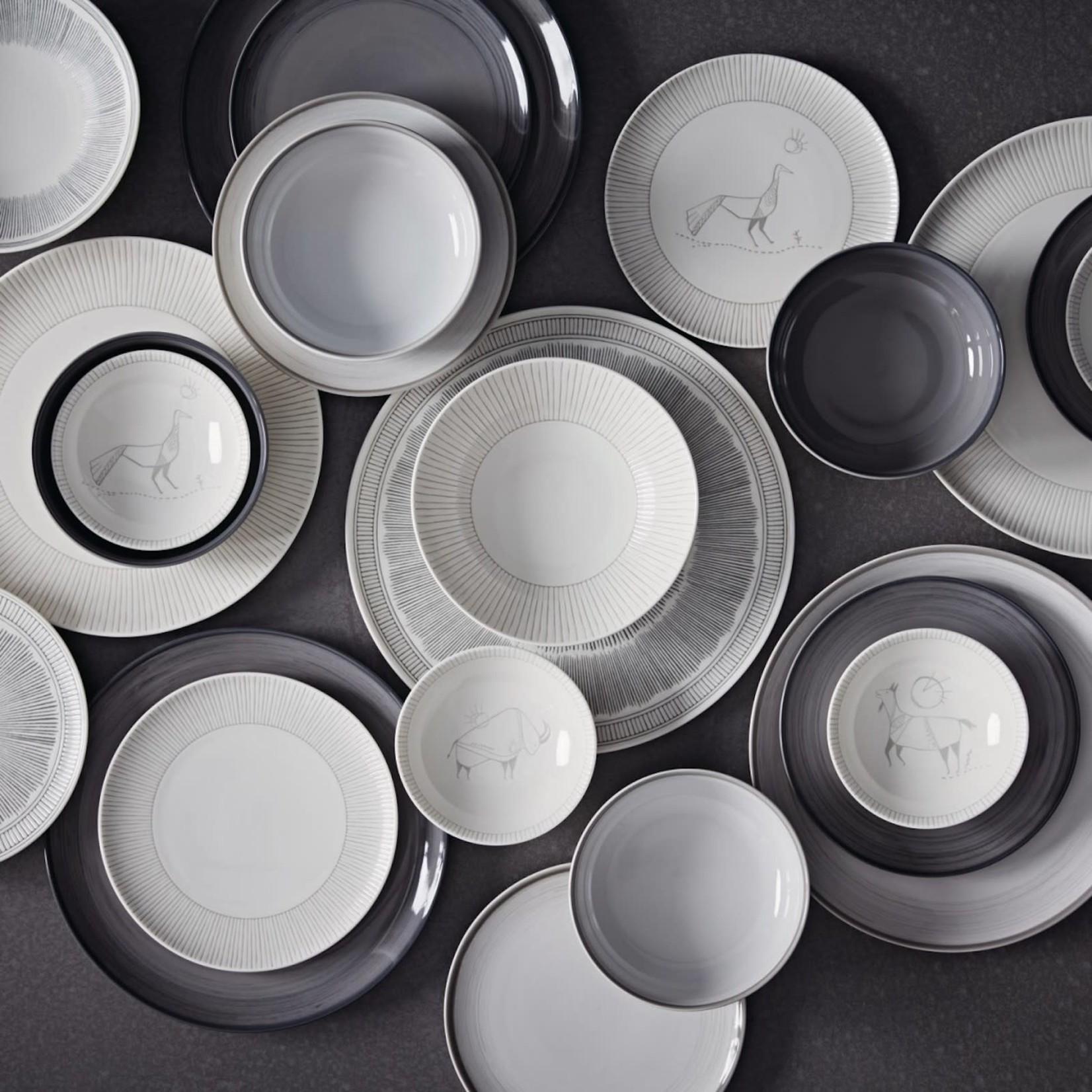 Royal Doulton Grey Brushed Glaze 16 Piece Set 14oz